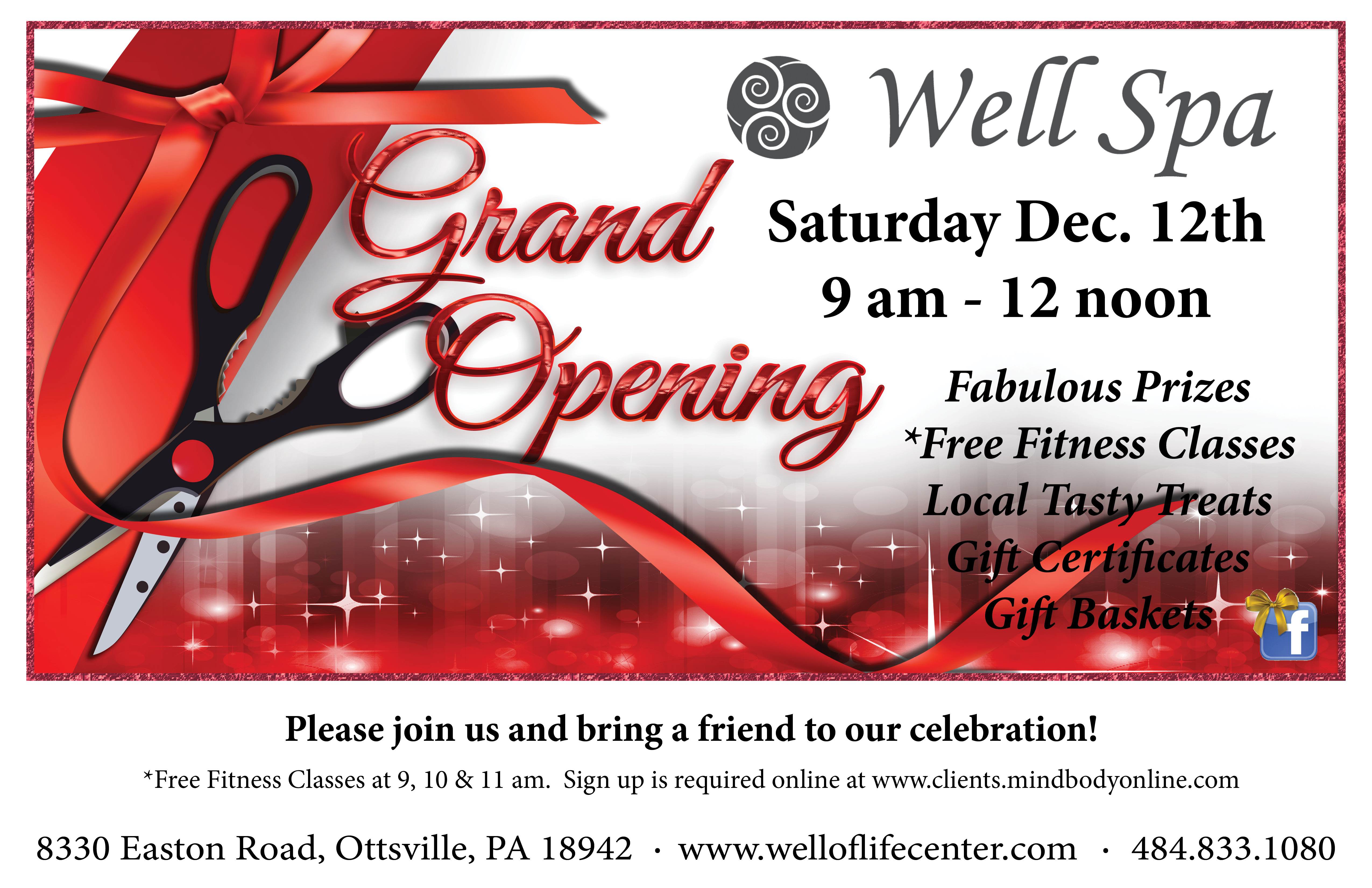 grand opening postcard well of life center