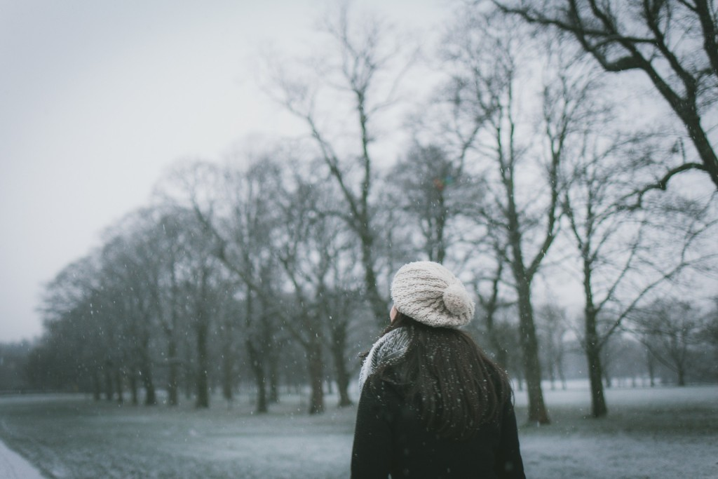 woman in snow